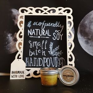 4 oz very vanilla natural soy candle